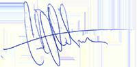 Gustav Otterbergs signatur